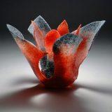 Contemporary glass artist Etsuko Nishi