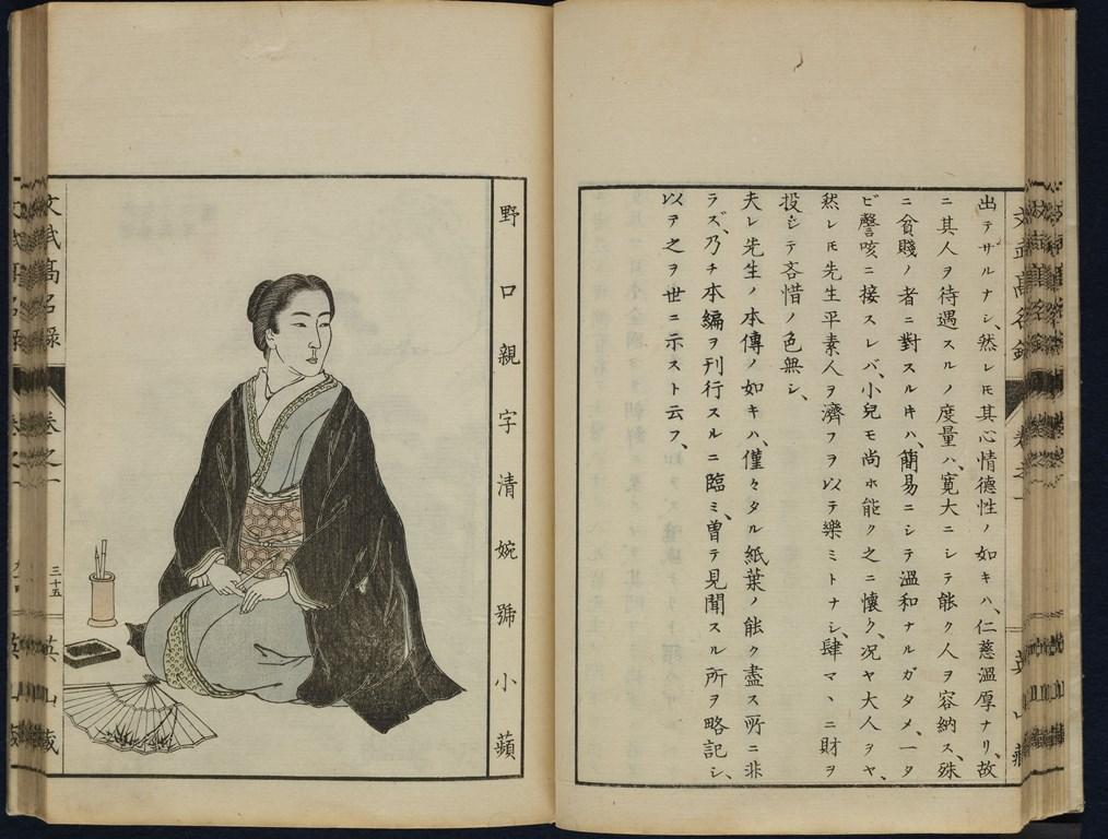 Entry on Noguchi Shōhin in Bunbu kōmeiroku (文武高名録, ), 1893, private collection.